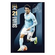 manchester-city-affisch-david-silva-94-1