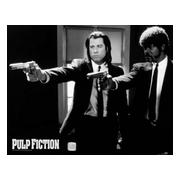 pulp-fiction-miniaffisch-b-w-guns-1