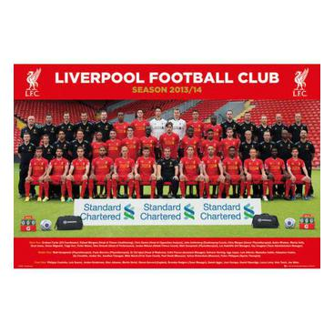 Liverpool Affisch Squad 82