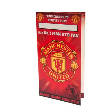 Manchester United Birthday Gratulationskort No 1 Fan