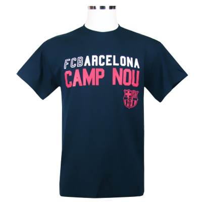 Barcelona T-Shirt Mörkblå-Rosa XXL