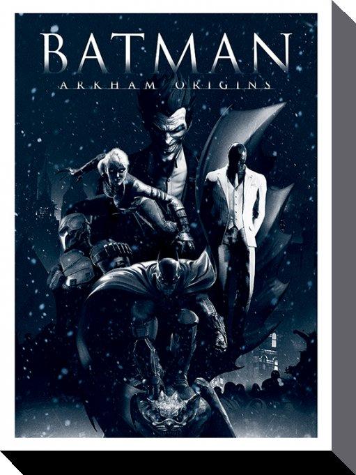 Batman Canvastryck Arkham Origins Montage