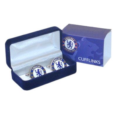 Chelsea manschettknappar Crest