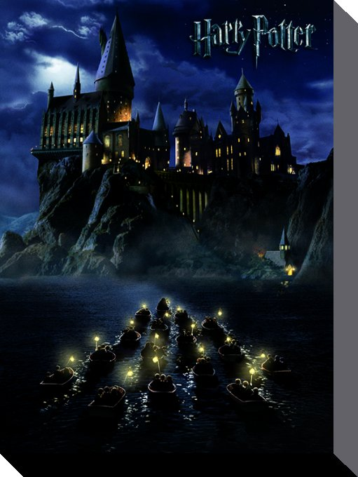 Harry Potter Canvastryck Hogwarts School 40 x 30