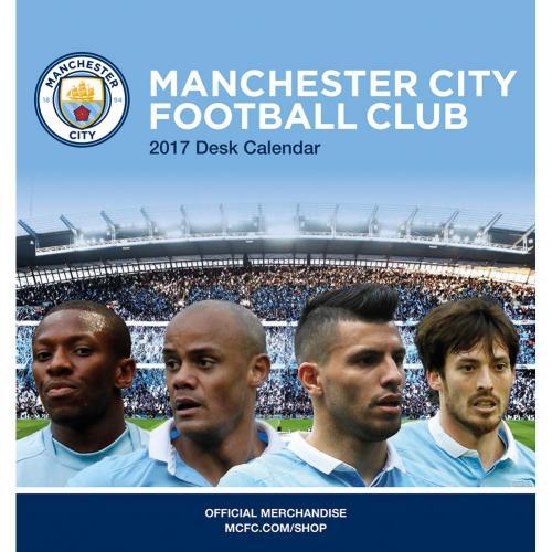 Manchester City Skrivbordskalender 2017
