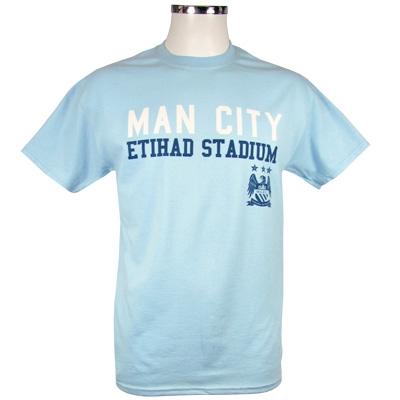 Manchester City T-Shirt Ljusblå XXL