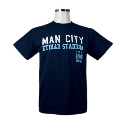 Manchester City T-Shirt Mörkblå XXL