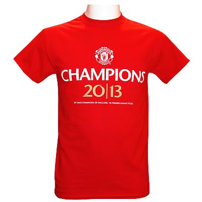 Manchester United T-shirt Champions 2013 Röd S