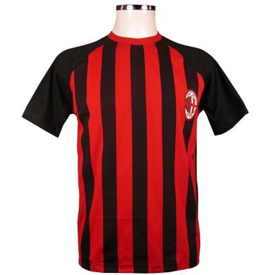 Milan T-shirt Randig Röd-svart XL