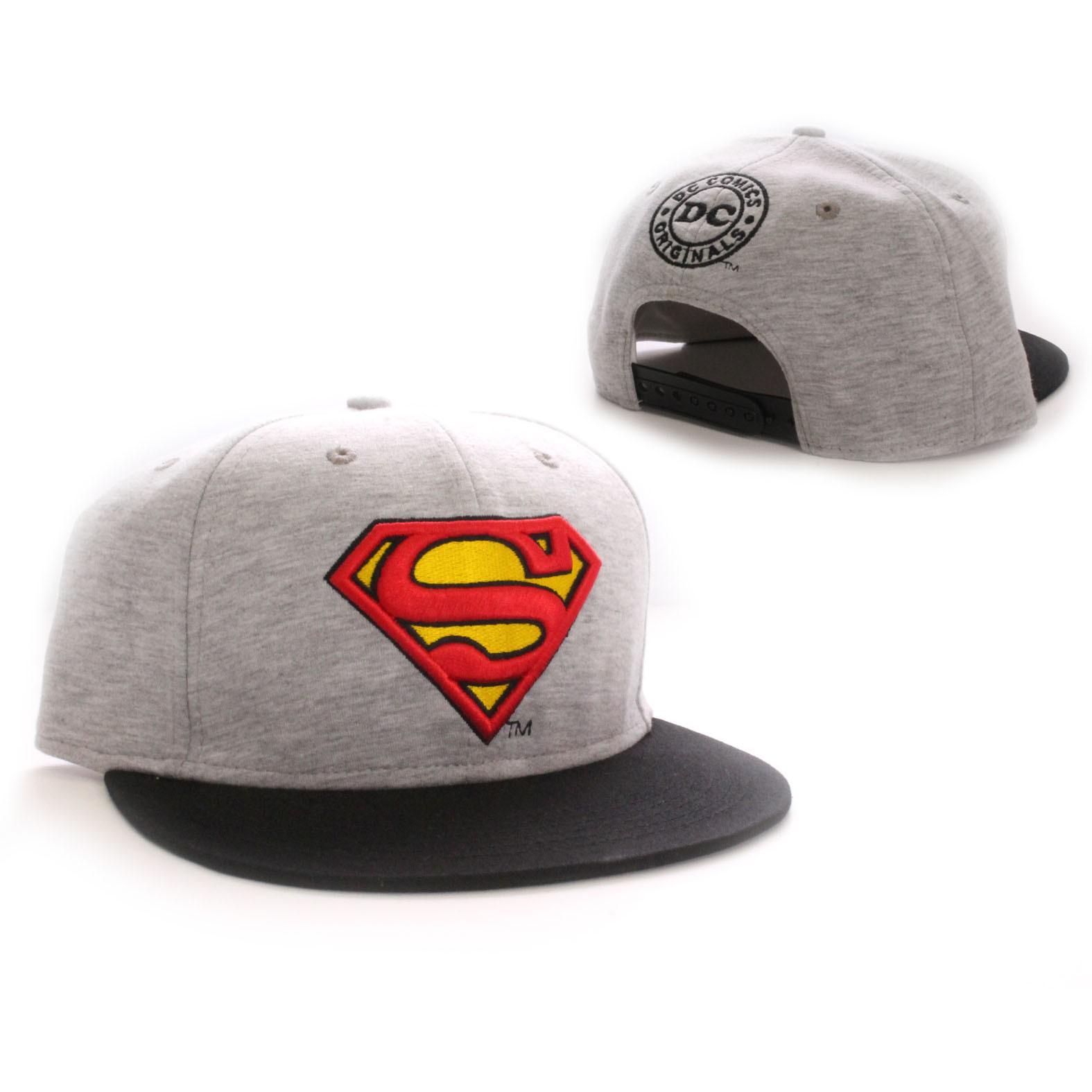 Superman Keps Classic Logo Grå