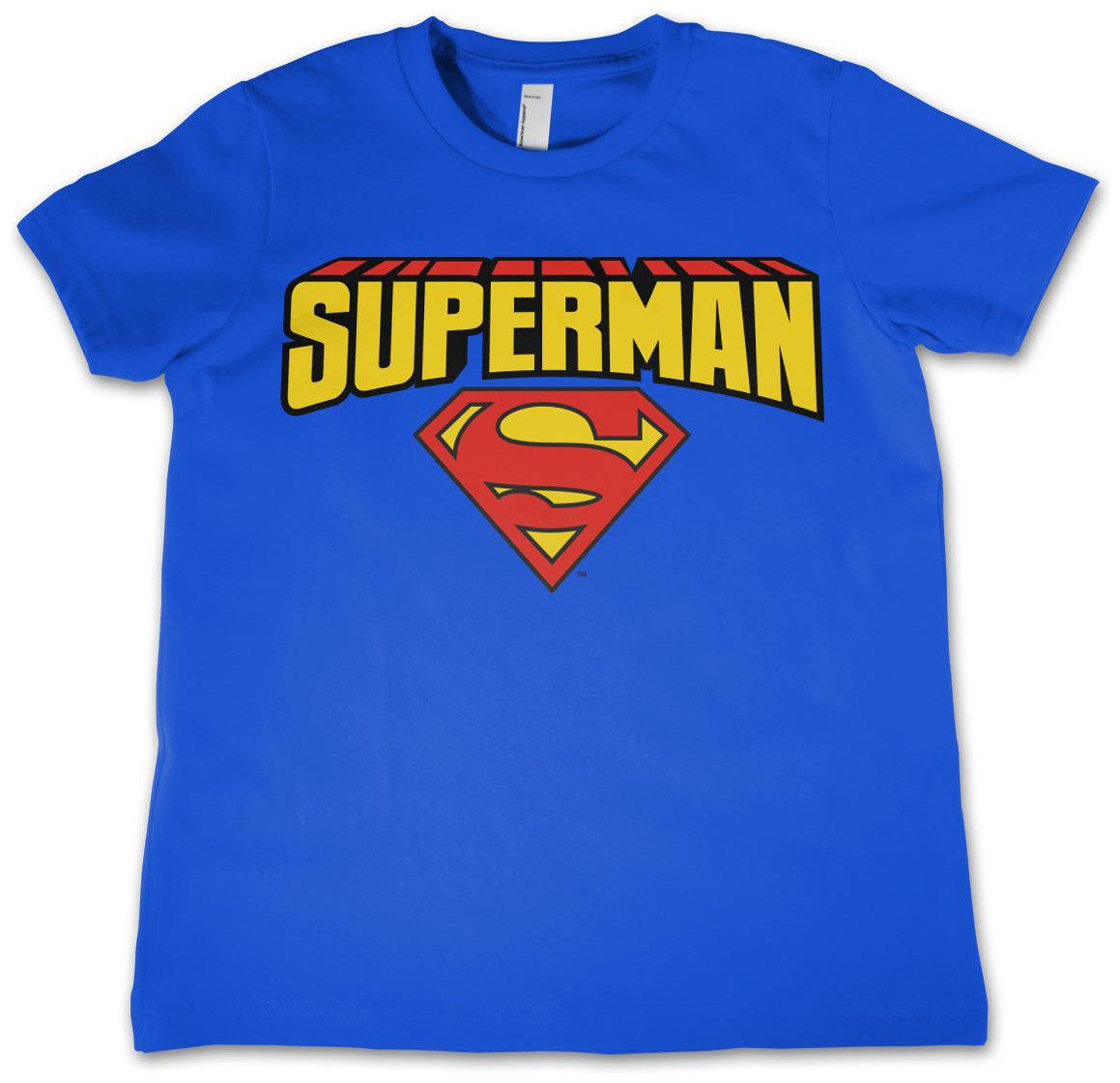 superman t shirt blockletter barn. Black Bedroom Furniture Sets. Home Design Ideas
