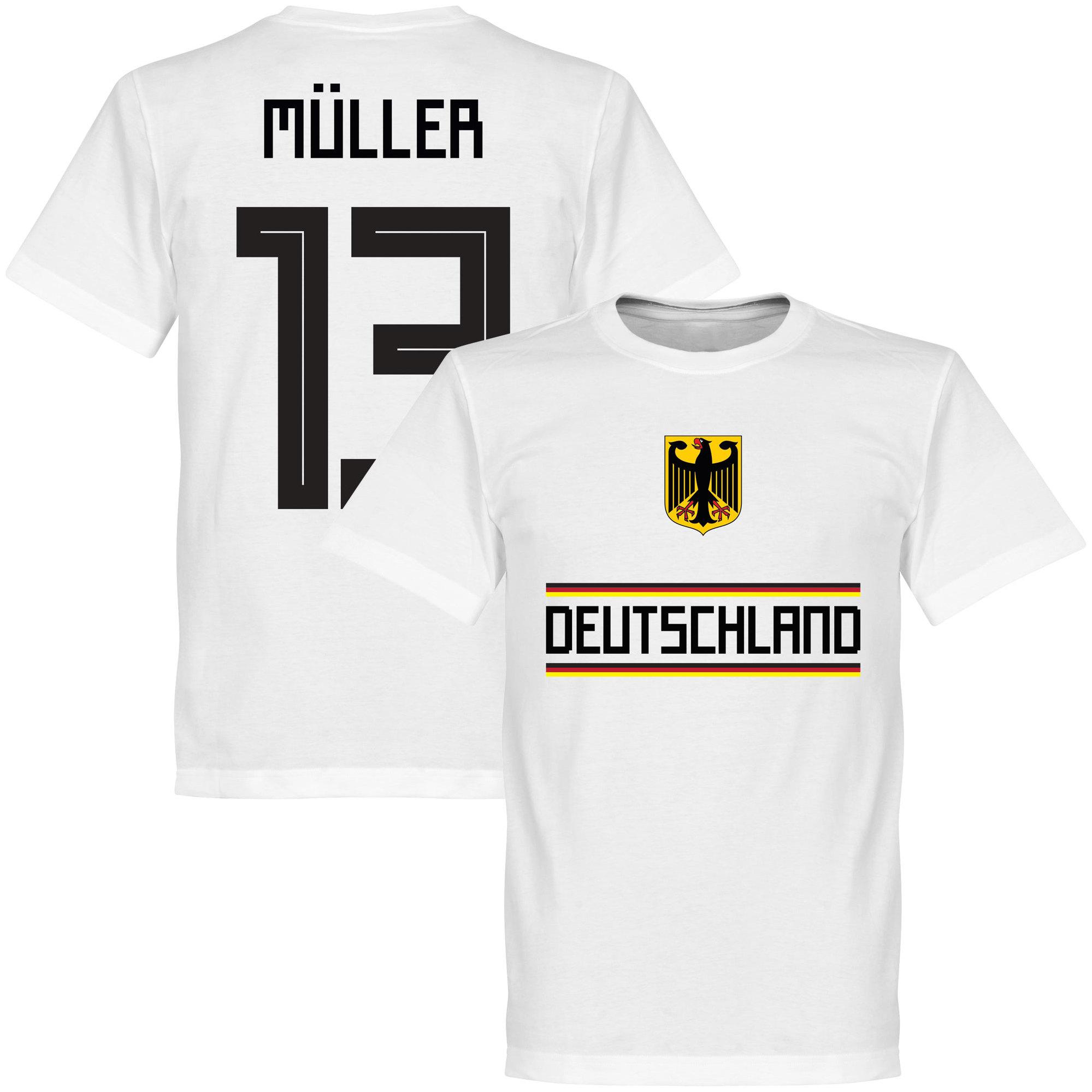 pretty nice e8e54 1db7e Tyskland T-shirt Müller 13 Team Gerd Muller Vit